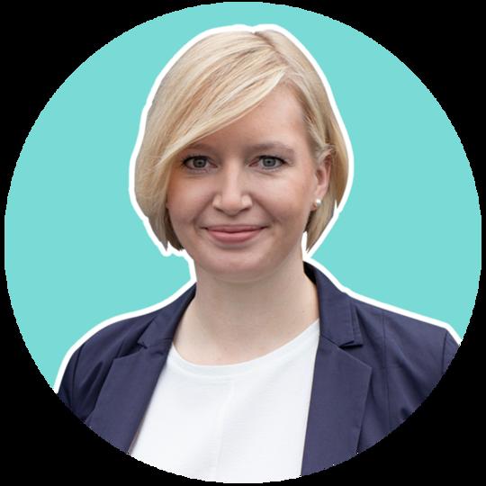 Melanie Olm-Büscher ist deine Ansprechpartnerin