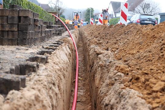 Baustelle mit Kabelzug